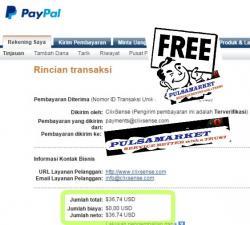 Bukti Pembayaran Dollar Paypal dari Paid to Click Terbaru