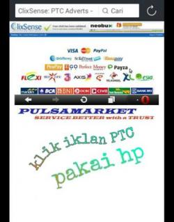 Cara Klik Iklan paid to click via HP