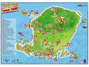 Peta Pariwisata Lombok