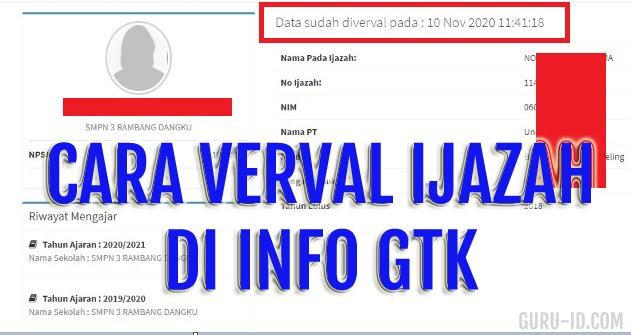 Cara Memverval Ijazah di Info GTK untuk Anda